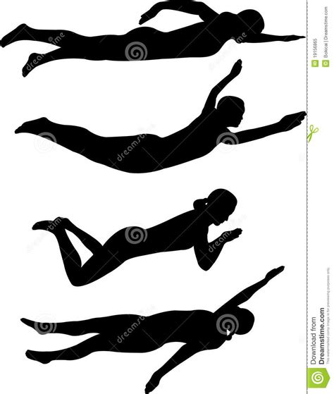 clipart nuoto stili di nuoto fotografia stock libera da diritti