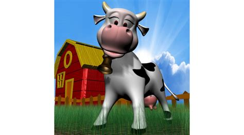 Cartoon Cow, 3d Library