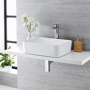 Vasque À Poser Rectangulaire : vasque poser rectangulaire alswear 48 x 37cm ~ Melissatoandfro.com Idées de Décoration