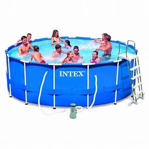 Spa Gonflable Intex Gifi : piscine tubulaire intex ronde m tal frame 457 x 122 cm ~ Dailycaller-alerts.com Idées de Décoration
