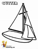 Sailing Coloring Ship Boat Printable Boats Cutter Yescoloring Boys Superb Printout Yachts sketch template