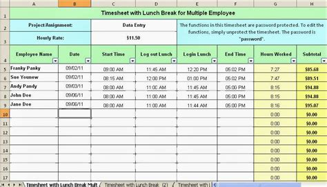 driver employee break  lunch schedule  bcause
