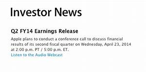 Apple's Q2 2014 Earnings Call To Take Place On April 23 ...