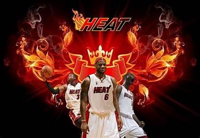 Heat Miami Wallpapers Lebron James Wade Dwyane