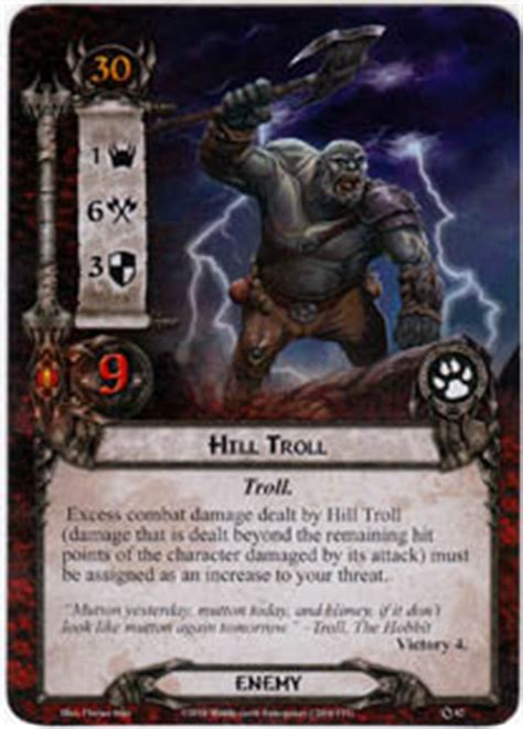 lotr lcg deck lists hill troll set lord of the rings lcg lord of
