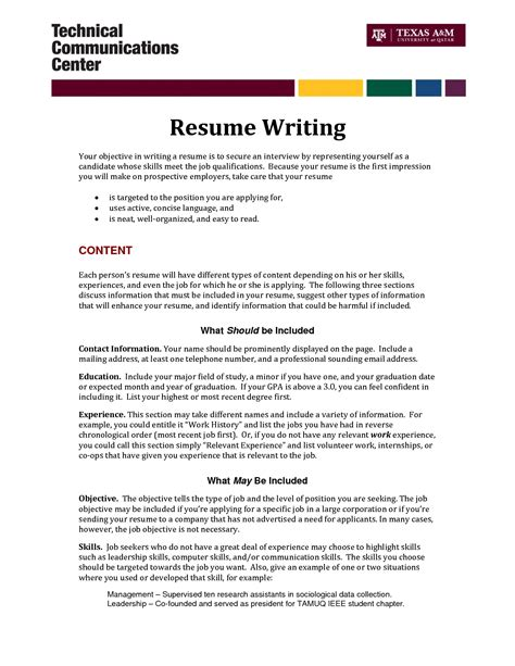 best resume objectives for marketing marketing objective