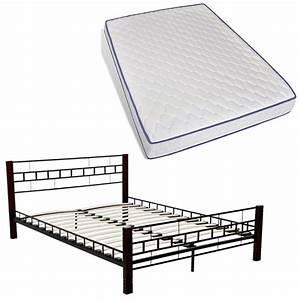 Bett Metall Schwarz : bett aus metall 140 x 200 cm mit matratze schwarz g nstig kaufen ~ Indierocktalk.com Haus und Dekorationen
