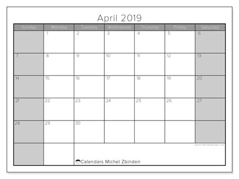april calendar ss michel zbinden en