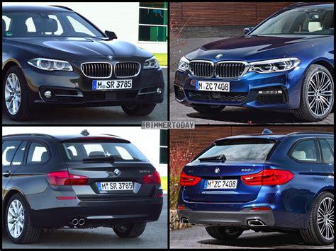 bmw 5er touring g31 image comparison bmw g31 5 series touring against predecessor f11 5 series