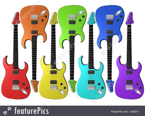 guitar clipart rainbow pencil and in color guitar