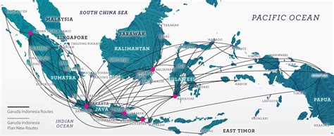 domestic flight route garuda indonesia flying