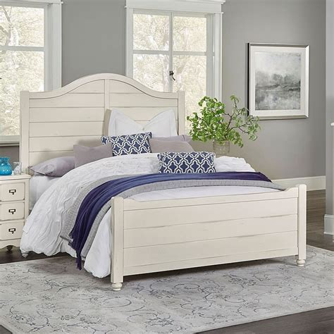 Shiplap Bed by American Maple Shiplap Panel Bed Dusky White Vaughan