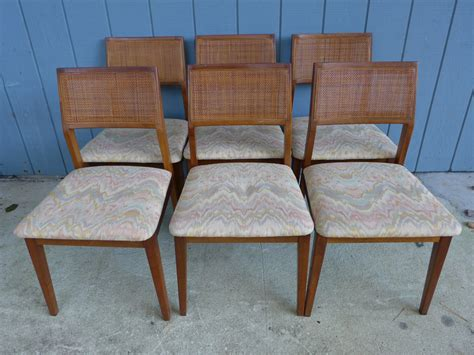 reserved set of 6 mid century modern solid walnut dining