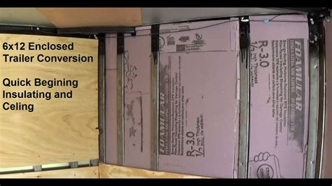 enclosed trailer r door conversion 6x12 enclosed trailer conversion insulate and cover