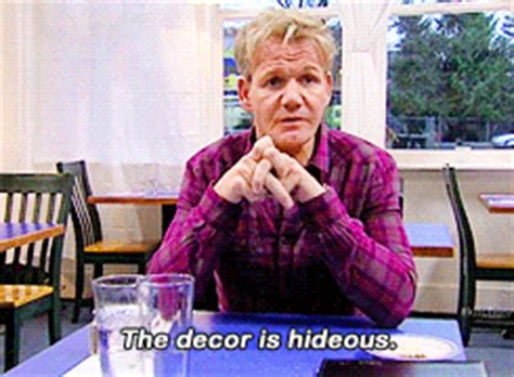 Kitchen Nightmares Hideous Lunch by Gordon Ramsay Animated Gif