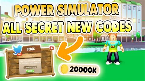 secret  codes power simulator codes roblox youtube