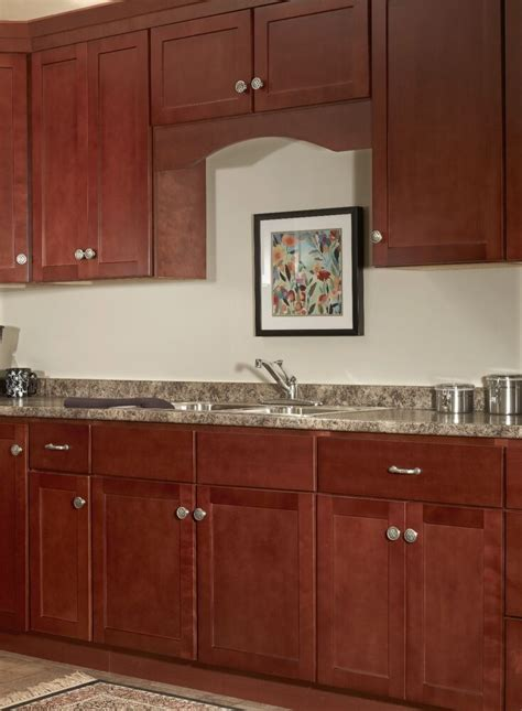 Andover Cherry Collection Kitchen Cabinets Solid Wood Soft