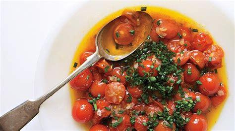 cherry tomato vinaigrette recipe   salad