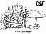 Cat Coloring Caterpillar Tractor Colouring Construction Budowy Track Spychacz Placu Skid Steer Backhoe Machine Loader Truck Printables Druku Kolorowanka Birthday sketch template