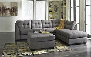 Grey fabric sectional sofa steal a sofa furniture outlet for Grey sectional sofa los angeles