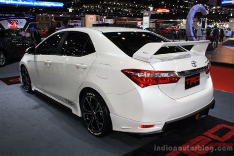 toyota motors india toyota corolla altis trd sportivo rear three quarters at