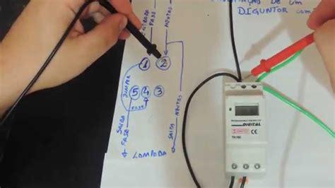 como instalar um disjuntor programavel ou timer digital