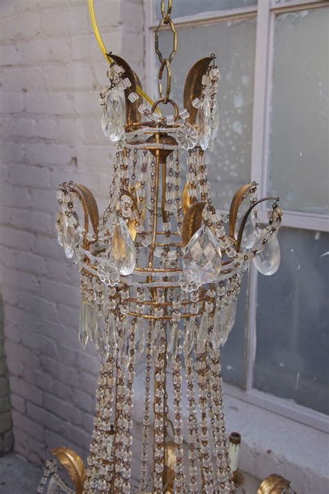Beaded Chandeliers For Sale by Grand Italian Macaroni Beaded Chandelier For Sale At 1stdibs