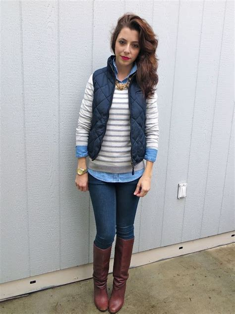 40 Cool Outfit Ideas with Puffy Vest - Sortra