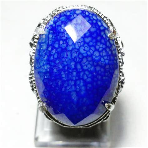 Batu Cincin Sisik Naga jual cincin batu akik sisik naga biru top created di lapak