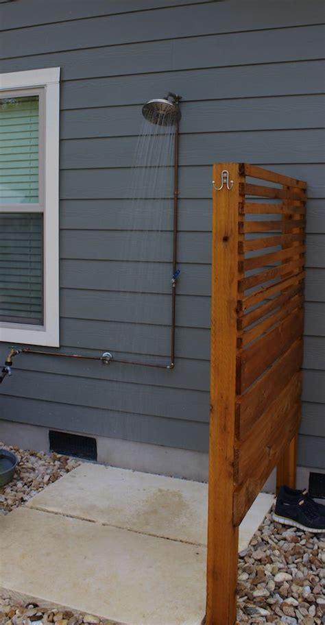 Simple Outdoor Shower  Crestview Modern Craftsman