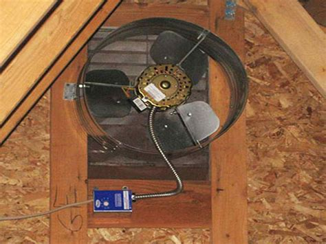 how to install an attic fan how to repairs how to install attic fan cool fan
