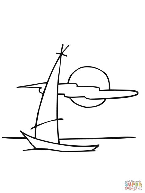 disegno  barca  vela da colorare disegni da colorare