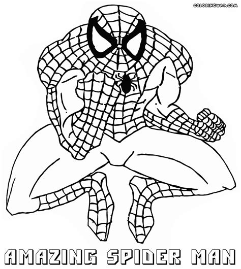 The Amazing Spider Coloring Pages Amazing Spider Amazing Spider Coloring Pages Sketch