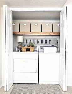 Diy, Small, Laundry, Room, Makeovers, On, A, Budget, 31