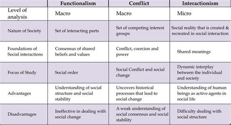 Functionalism Conflict and Interactionism Perspectives