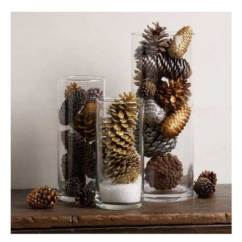 pine cone christmas table decorations pine cone easy table decoration diyideacenter com