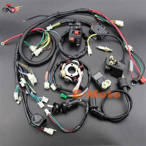 buggy wiring harness loom gy6 engine 125 150cc atv electric start stator 8 coil spark