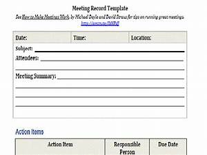 Meeting record intelliven for Recording meeting minutes template