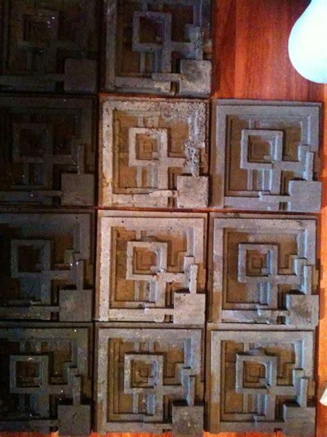 cast concrete tiles design  similar  flw ennis