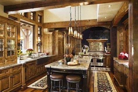 Best Rustic Kitchens Design Ideas With Pendant