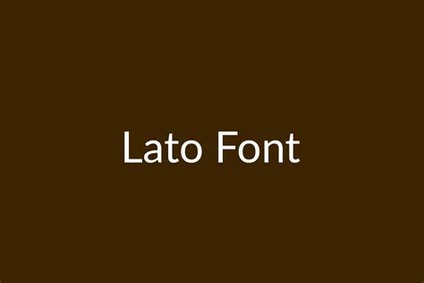 Lato   Fonts Shmonts