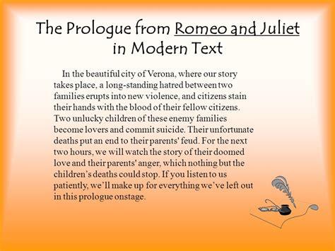 romeo and juliet play script modern shakespearean language ppt