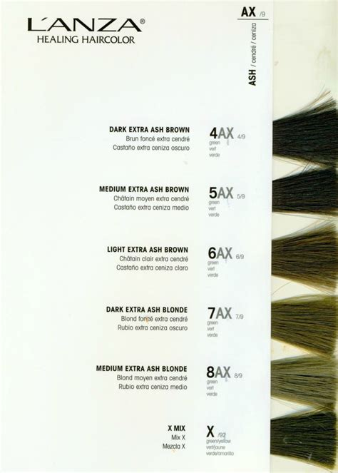 lanza color chart 10 best images about l anza hair on colors