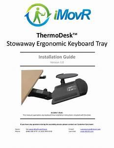 Thermodesk Stowaway Keyboard Tray