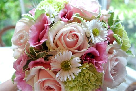 Pink And Green Wedding Flowers Shrigley Hall Cheshire