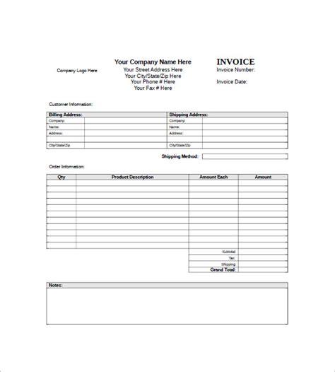 generic invoice template  ideas  organize