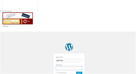Contact Us Form Displaying Admin Login Page