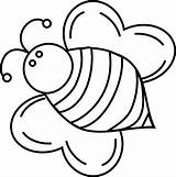 Bee Coloring Bumble Pages Bees Bumblebee Cute Queen Fat Drawing Clipart Template Print Printable Bumblebees Cliparts Honey Clip Baby Templates sketch template