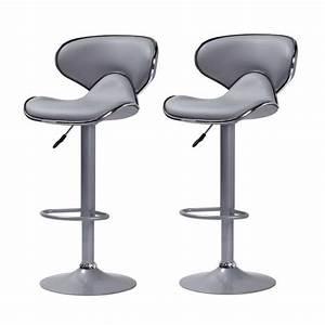 Tabouret De Bar Inox : lot de 2 tabourets de bar colorado gris taupe achat vente tabouret de bar gris cdiscount ~ Teatrodelosmanantiales.com Idées de Décoration