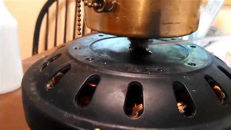oiling  bearings   alaska hugger ceiling fan youtube